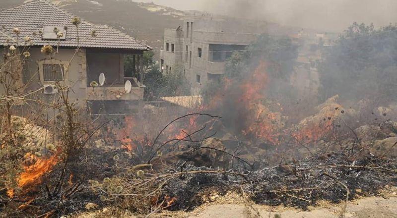 ام الفحم: طواقم الطوارئ البلديّة تعمل على اخماد الحرائق في انحاء مختلفة من البلد