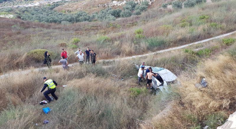 نوف هجليل: اصابة سيدة بصورة خطرة بحادث طرق