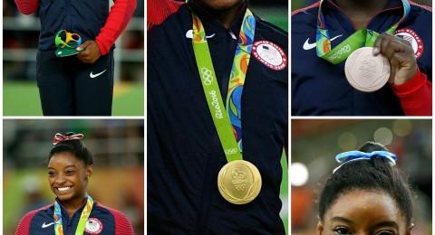 ريو 2016: سيمون بايلز تدخل تاريخ الجمباز بعد حصدها ميدالية ذهبية رابعة