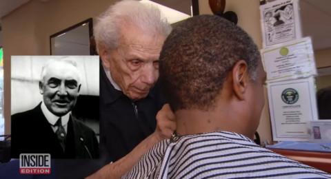 أكبر حلاق في العالم.. عمره 107 سنوات وما زال يمارس مهنته