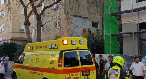 اصابة بالغة لعامل بناء بعد سقوطه من الطابق الخامس بورشة للبناء