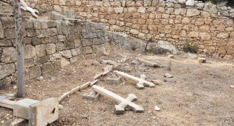 استنكار ومطالبة حول الاعتداء على مقبرة دير الرهبان السالزيان في بيت جمال