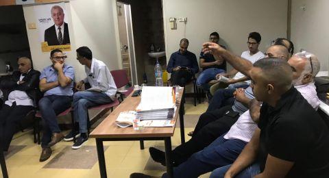 افتتاح مقر لدعم المرشح وليد العفيفي لرئاسة بلدية الناصرة في حي جبل الدولة.