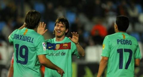 برشلونة يستعد للكلاسيكو بـ8 أهداف في الميريا وثلاثية  لميسي خارج الكامب نو