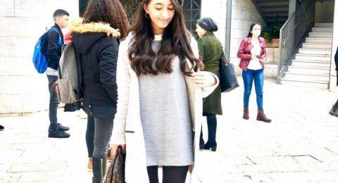 سخنين : تألق الطالبة ليان ظافر خلايلة من اعدادية الحلان بامتحان اوديسا في التخنيون
