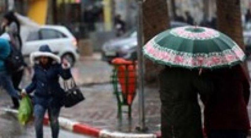 حالة الطقس: أمطار غزيرة وثلوج خفيفة على ارتفاع 1000 متر