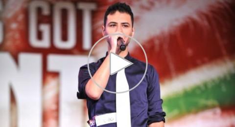 فلسطيني يهز مسرح Arabs Got Talent بعرض موسيقي بفمه
