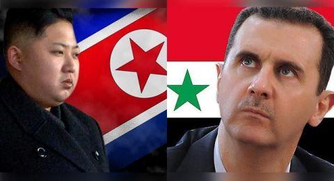 بشار الأسد يهدي الورد لـ كيم جونغ أون!