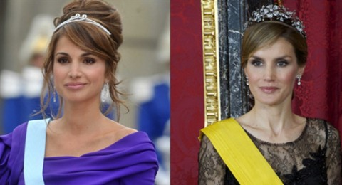 ما رأيكم بالشبه بين الملكة ليتيثيا والملكة رانيا؟