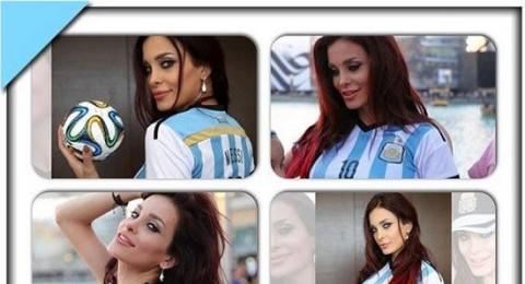 دومينيك حوراني تعشق الأرجنتين مع ابنتها .. صور