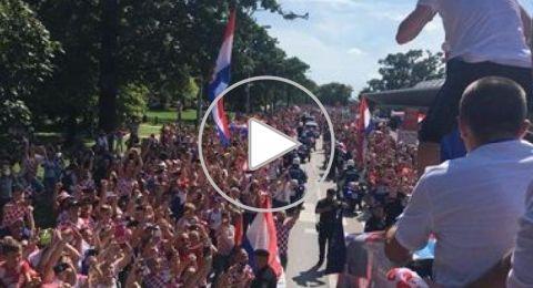 استقبال أسطوري لمنتخب كرواتيا في زغرب
