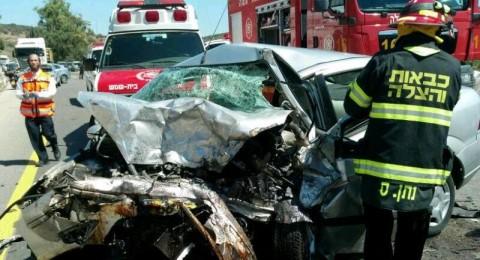 مصرع شخصين بحادث طرق عند بيت شيمش