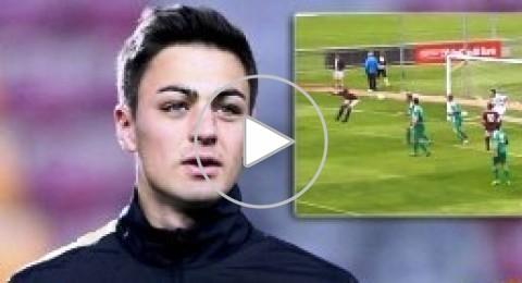 لاعب يحرز هدفا بمؤخرته عمدا فى التشيك