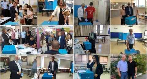 المرشحون العرب وقيادات الاحزاب يدلون بأصواتهم ويشددون على أهمية التصويت