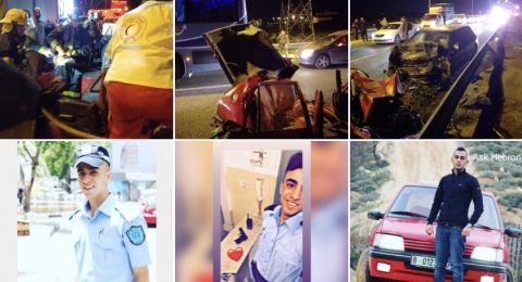 مصرع 4 فلسطينيين  واصابة 3 اخرين بحادث قرب الخليل