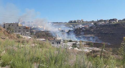 اندلاع حريق في منطقة حرشية بين الناصرة وعيلوط