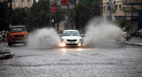 حالة الطقس :منخفض جوي مصحوب بعواصف رعدية