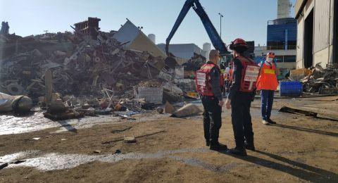اشدود: انفجار في مصنع يسفر عن مقتل شخصين واصابات اخرى