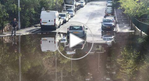حيفا: السيول تتسبب بحوادث طرق وتخليص عالق
