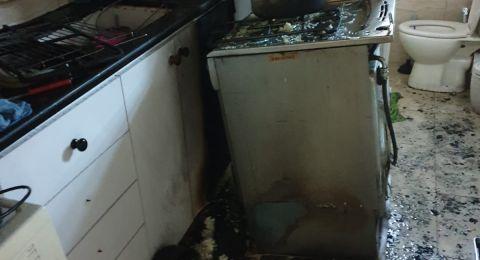 ترك طنجرة طبخ على الغاز بتسبب باندلاع حريق بشقة سكنية في حيفا واصابة سيدة