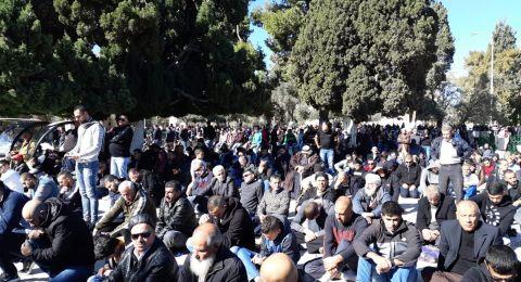 اكثر من 50 الف مصل يؤدون الجمعة في الاقصى