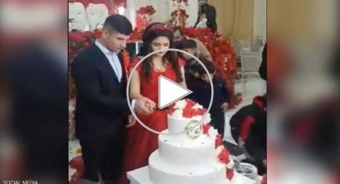 بالفيديو.. العريس المتهور يدمر