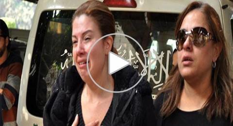 بكاء رانيا فريد شوقي أثناء دفن نجل شقيقتها ناهد