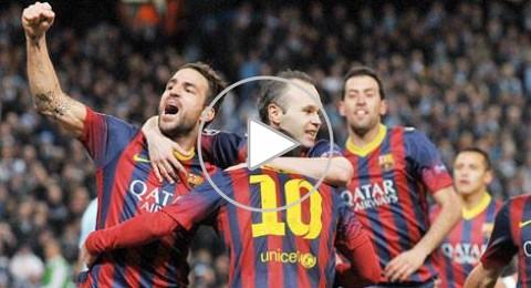 برشلونة يضع قدماً في الدور القادم بفوزه على مانشستر سيتي