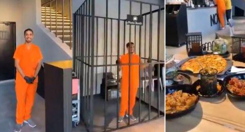 مطعم غريب على هيئة سجن في جدة