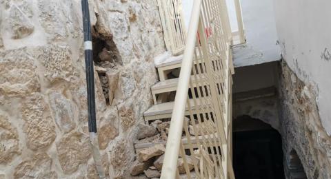 القدس: استمرار التشققات في منازل