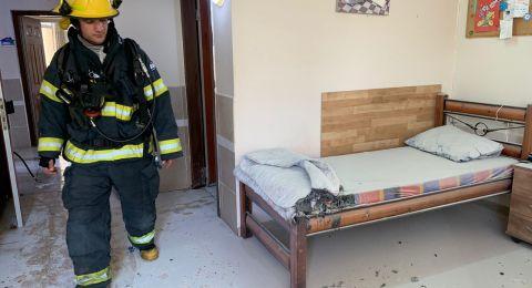 تخليص عالق بحالة حرجة اثر حريق في بيت مسنين بمدينة نهاريا
