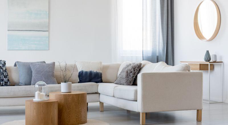 ترتيب غرفة الجلوس مستطيلة الشكل