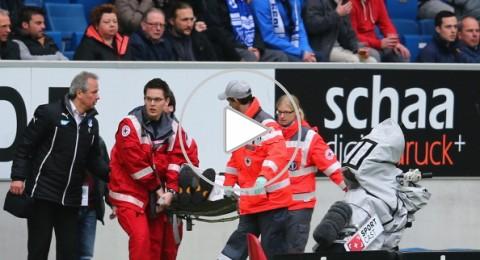 لاعب يصيب مصور اللقاء و يتسبب في نقله الى المستشفى