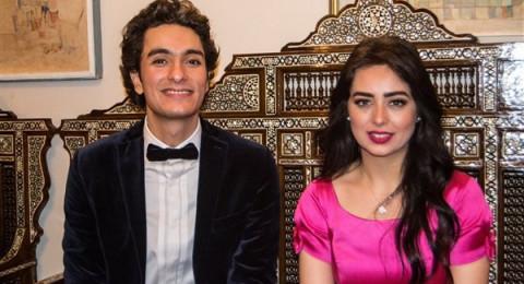 هبة مجدي ومحمد محسن يستقبلان ابنتهما الأولى