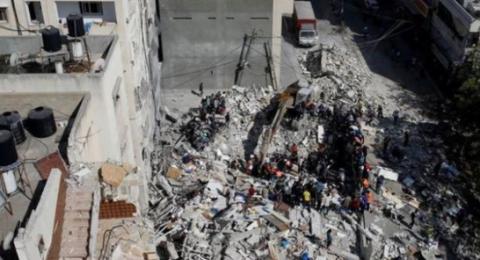 غزة: بعد وقف اطلاق النار ... انتشال جثامين 10 شهداء من تحت الأنقاض