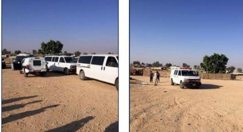 مواجهات بين سكان بئر هداج وأفراد الشرطة وتسجيل اصابات