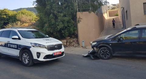البقيعة: حادث طرق بين دراجة وسيارة أدت إلى اصابة شاب