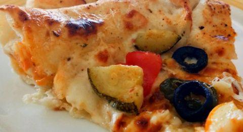 بيتزا بالخضار المشوية للرجيم