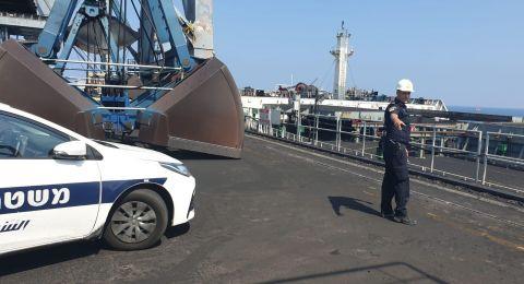 مصرع عامل اثر سقوطه داخل سفينة راسية قرب اشكلون
