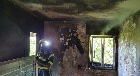 اندلاع حريق كبير في منزل بمدينة العفولة ويخلّف أضرارا جسيمة