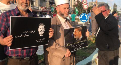 وقفات في البلدات العربية تعبيرًا عن الحزن بوفاة الرئيس المصري مرسي