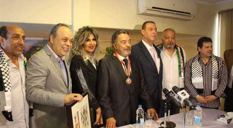 تكريم الفنان المصري القدير يوسف شعبان من السفارة الفلسطينية