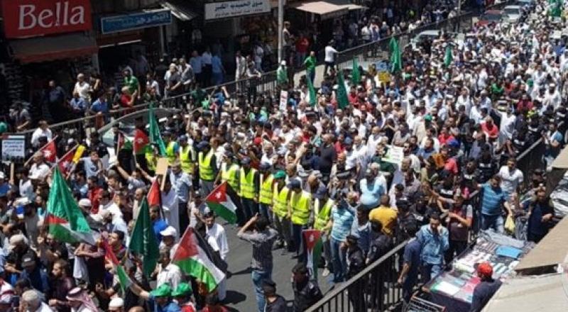 مظاهرات حاشدة في الاردن ضد صفقة القرن