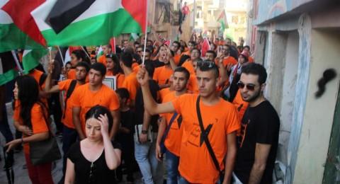 شبيبة التجمع في مسيرة حاشدة بمخيم الدهيشة للتواصل ونصرة للأسرى واللاجئين