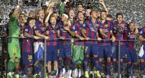"""""""ويفا"""" يكرم برشلونة على ألقاب دوري الأبطال الخمسة في قرعة موناكو"""