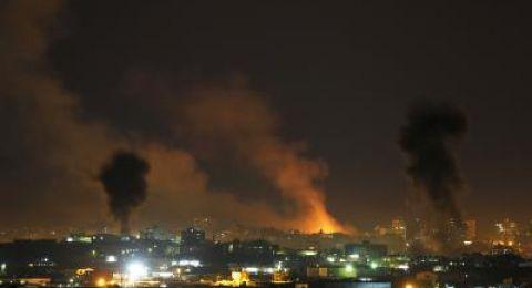 قصف اسرائيلي لمواقع للمقاومة في غزة