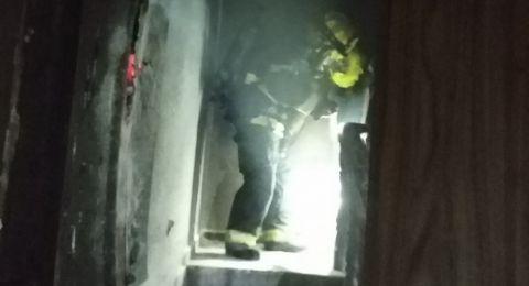 اصابة رجل وامرأة اثر حريق في منزل بالطيرة
