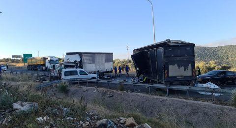 5 اصابات بحادث طرق قرب مدخل الرامة