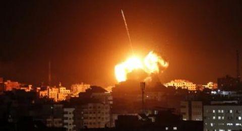 3 غارات متتالية جنوبي مدينة غزة فجر اليوم
