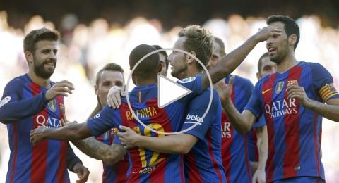 نيمار يقود برشلونة لسحق ديبورتيفو وميسي يعود في دقيقة